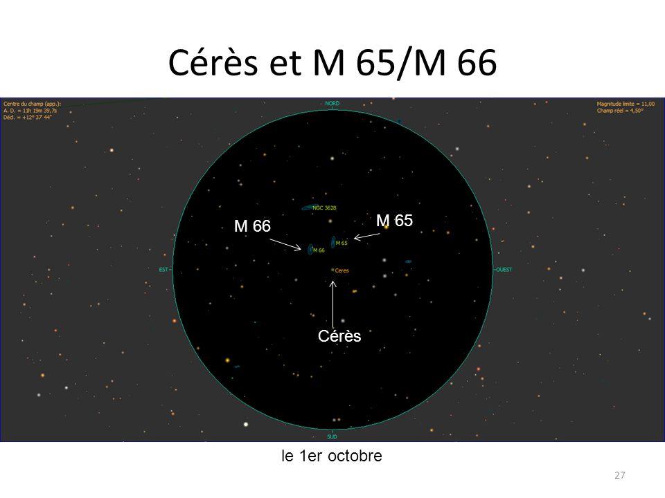 Cérès et M 65/M 66 27 le 1er octobre Cérès M 66 M 65