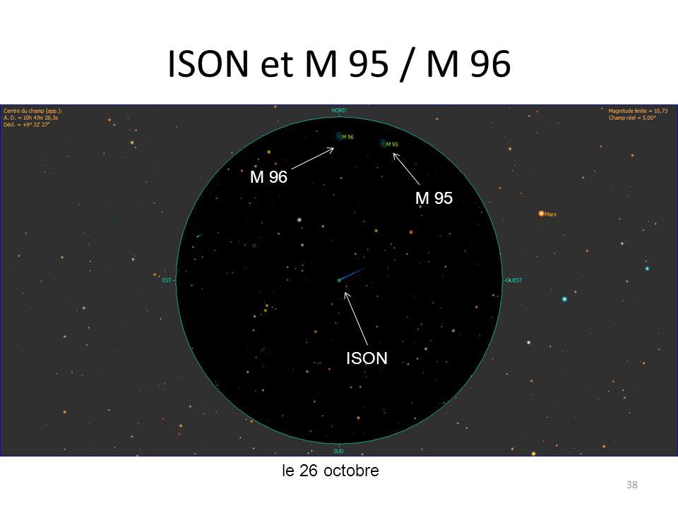 ISON et M 95 / M 96 38 le 26 octobre ISON M 95 M 96