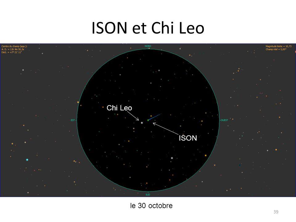 ISON et Chi Leo 39 le 30 octobre ISON Chi Leo