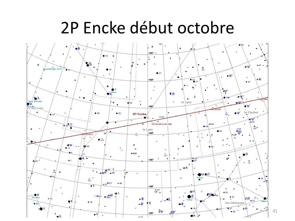 2P Encke début octobre 41