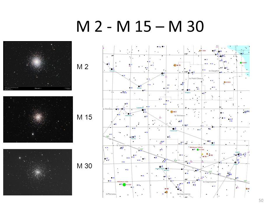 M 2 - M 15 – M 30 50 M 2 M 15 M 30