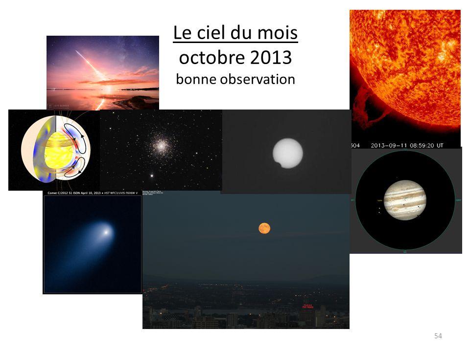 Le ciel du mois octobre 2013 bonne observation 54