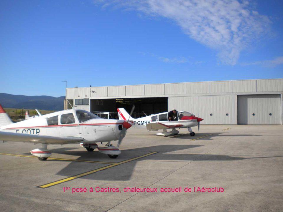 1 er posé à Castres, chaleureux accueil de l'Aéroclub