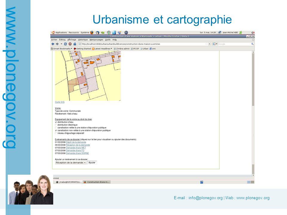 E-mail : info@plonegov.org | Web : www.plonegov.org www.plonegov.org Urbanisme et cartographie