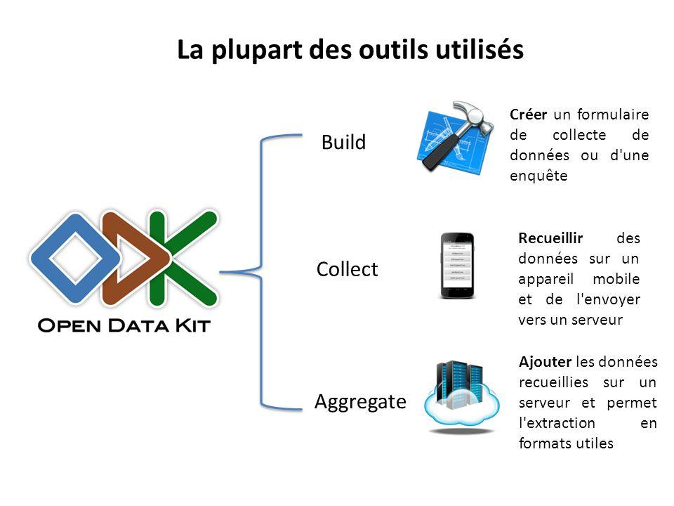 Build Aggregate Collect Créer un formulaire de collecte de données ou d'une enquête Recueillir des données sur un appareil mobile et de l'envoyer vers
