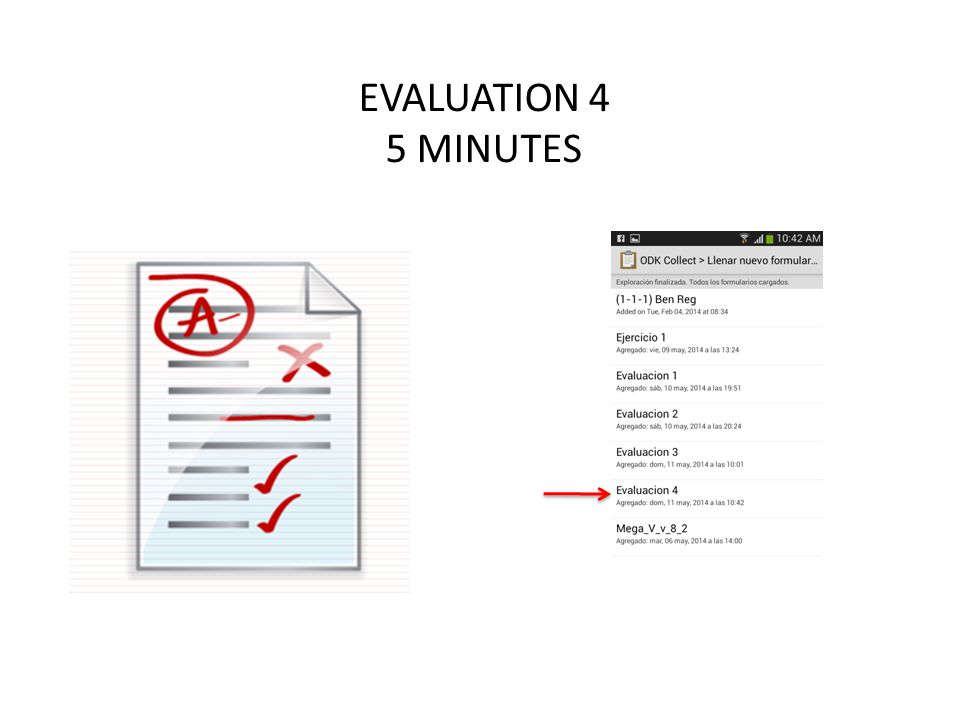 EVALUATION 4 5 MINUTES