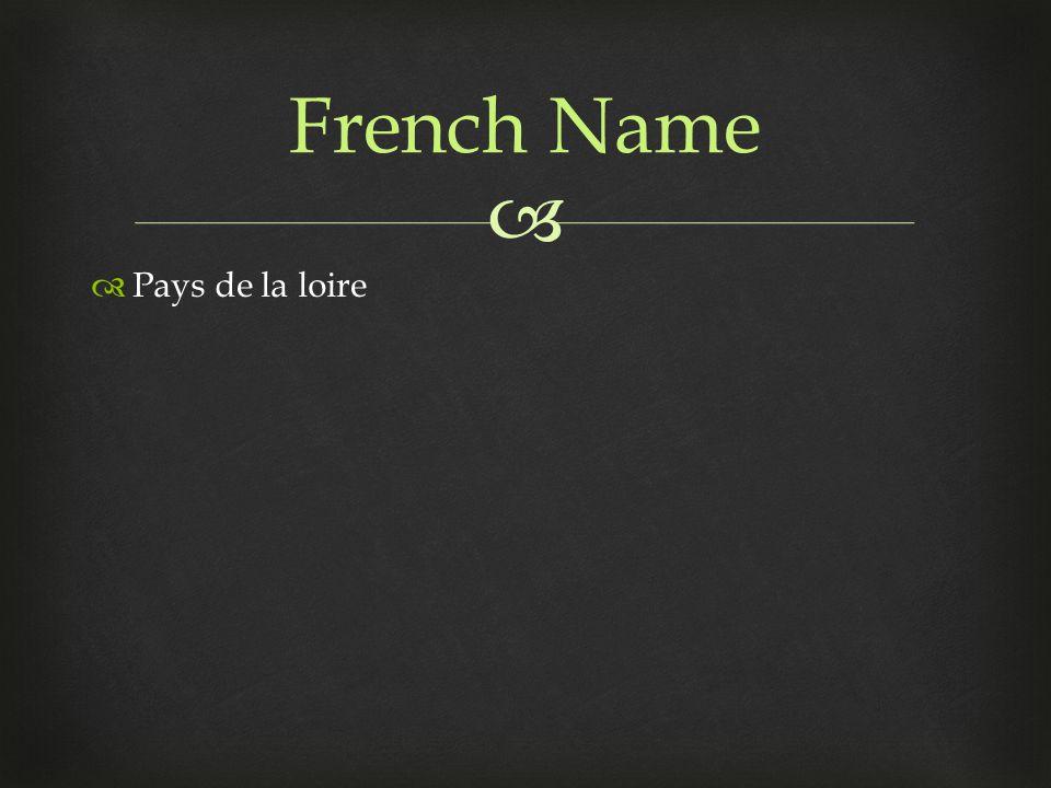   Pays de la loire French Name