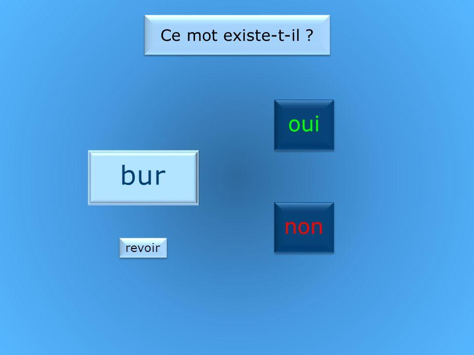 oui non Ce mot existe-t-il four revoir