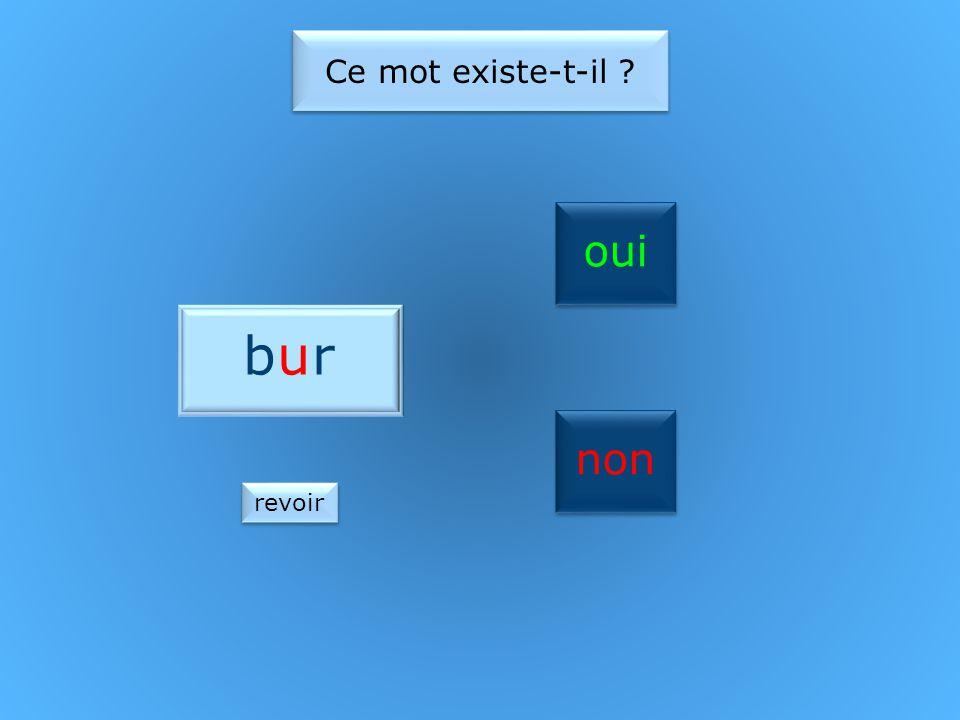 oui non Ce mot existe-t-il ? burbur revoir