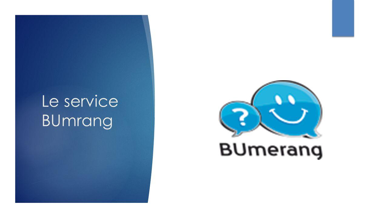 Le service BUmrang