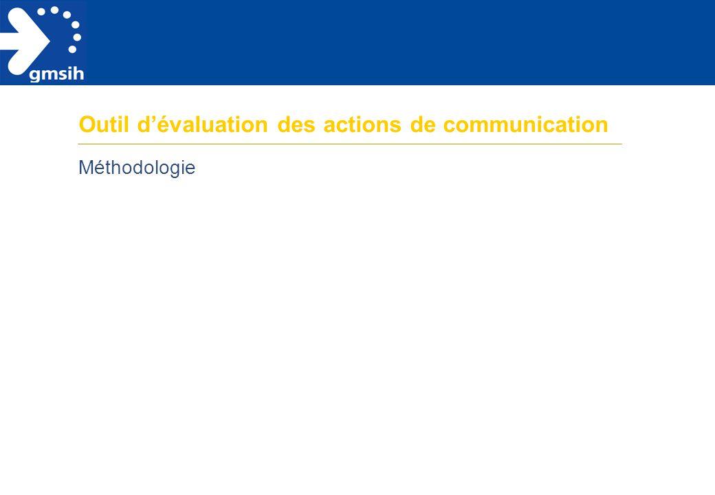 Outil d'évaluation des actions de communication Méthodologie