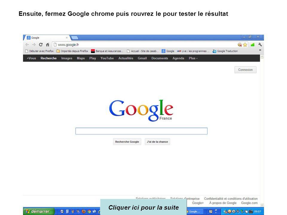 www.google.fr On tape: www.google.fr Puis cliquer sur
