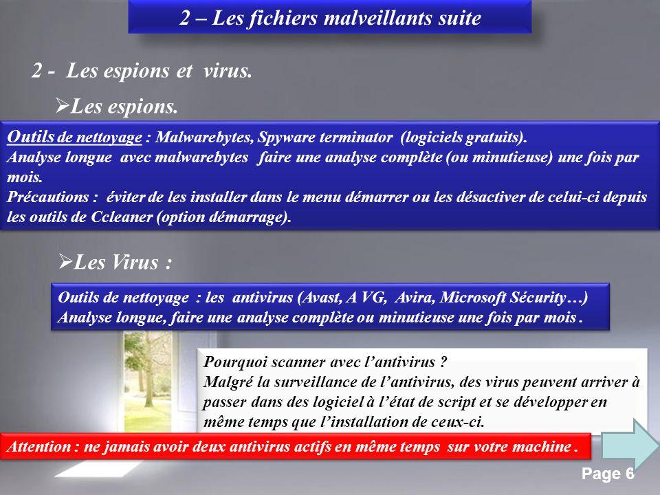 Page 5 2 – Les fichiers malveillants 1- Les barres d'outils et moteurs de recherche malveillants, Popups.