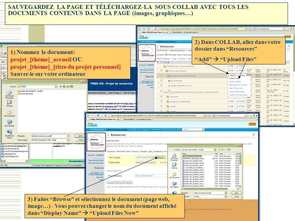 SAUVEGARDEZ LA PAGE ET TÉLÉCHARGEZ-LA SOUS COLLAB AVEC TOUS LES DOCUMENTS CONTENUS DANS LA PAGE (images, graphiques…) 1) Nommez le document: projet_[t