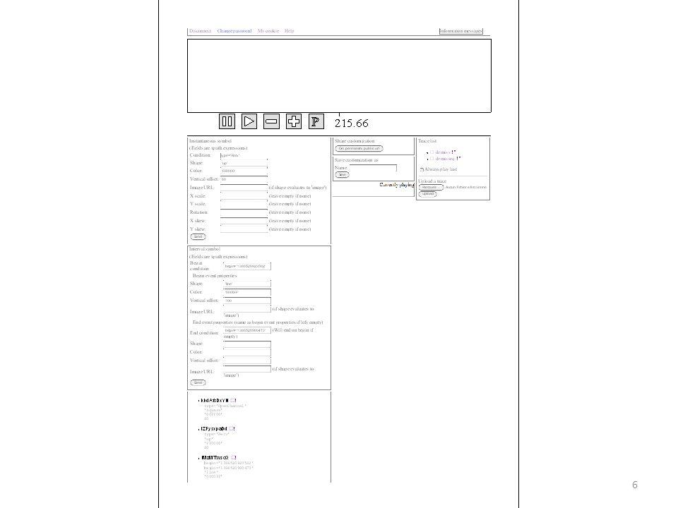 Import de traces Dans « Trace List » (à droite) En bas: « Upload a trace » Sélectionner la trace avec le bouton parcourir.