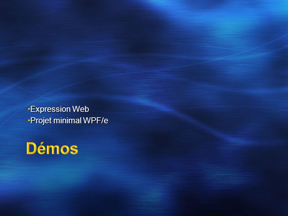 Expression WebExpression Web Projet minimal WPF/eProjet minimal WPF/e