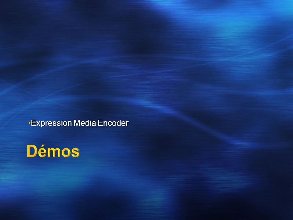 Expression Media EncoderExpression Media Encoder