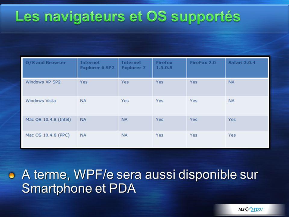 A terme, WPF/e sera aussi disponible sur Smartphone et PDA