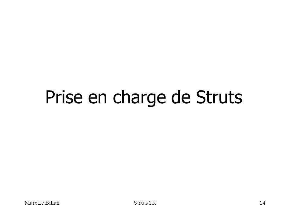 Marc Le BihanStruts 1.x14 Prise en charge de Struts