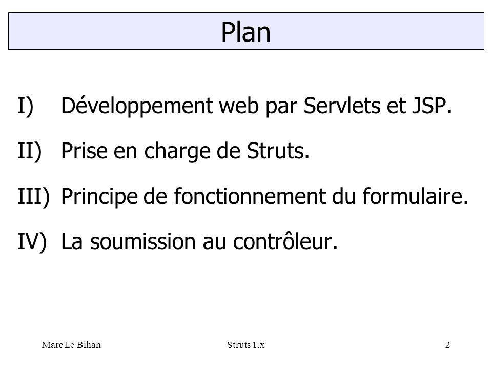 Marc Le BihanStruts 1.x3 Construction de pages web par servlets et JSP