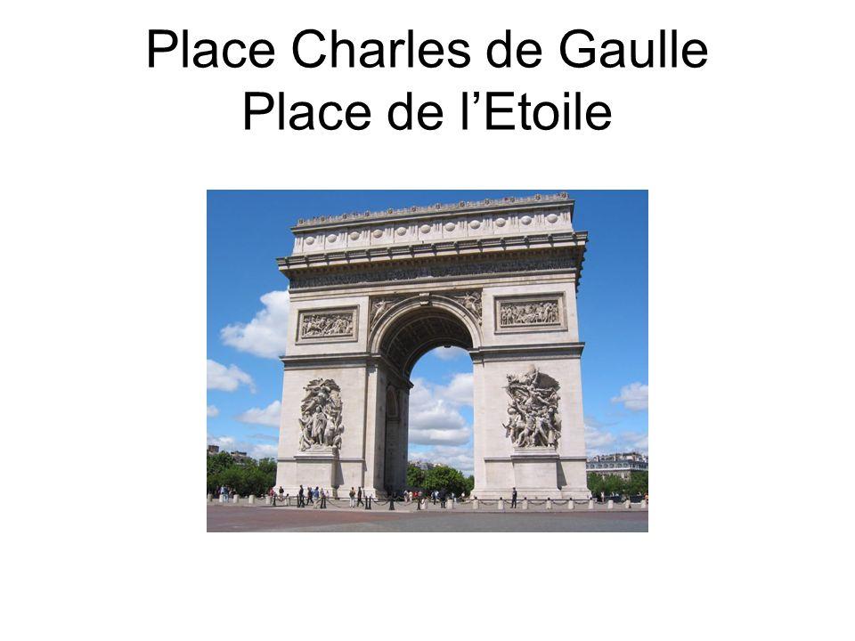 Place Charles de Gaulle Place de l'Etoile