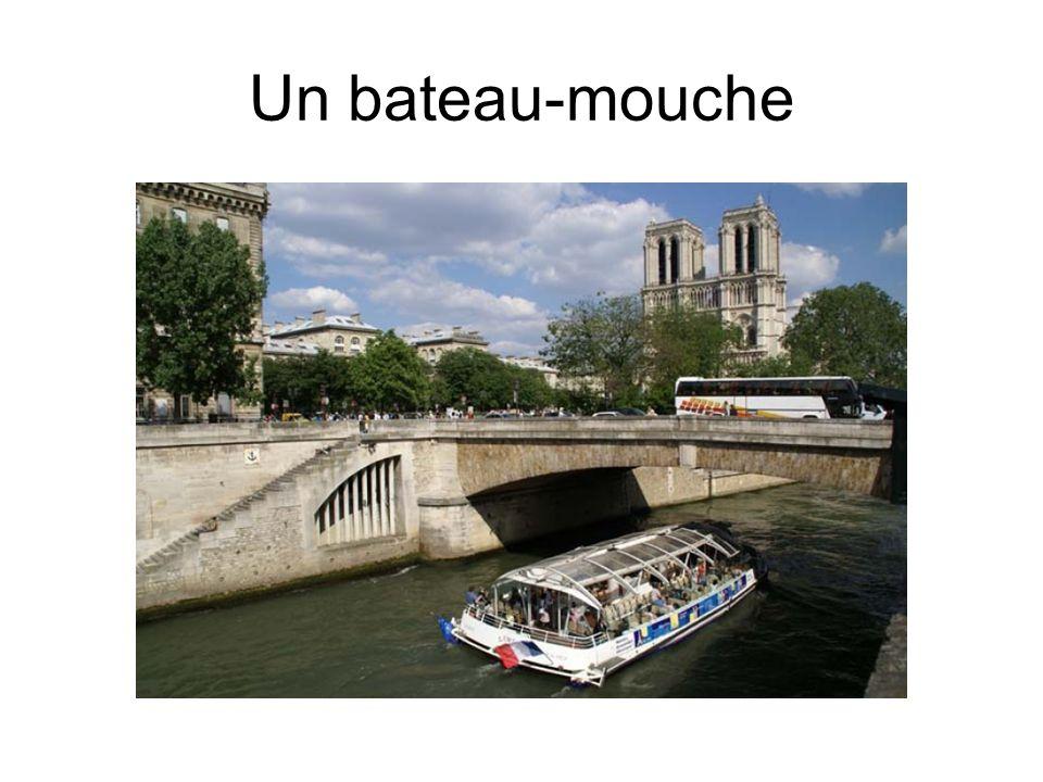 Un bateau-mouche