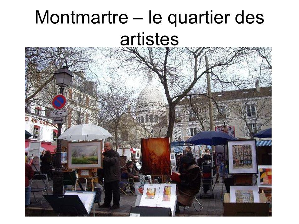 Montmartre – le quartier des artistes