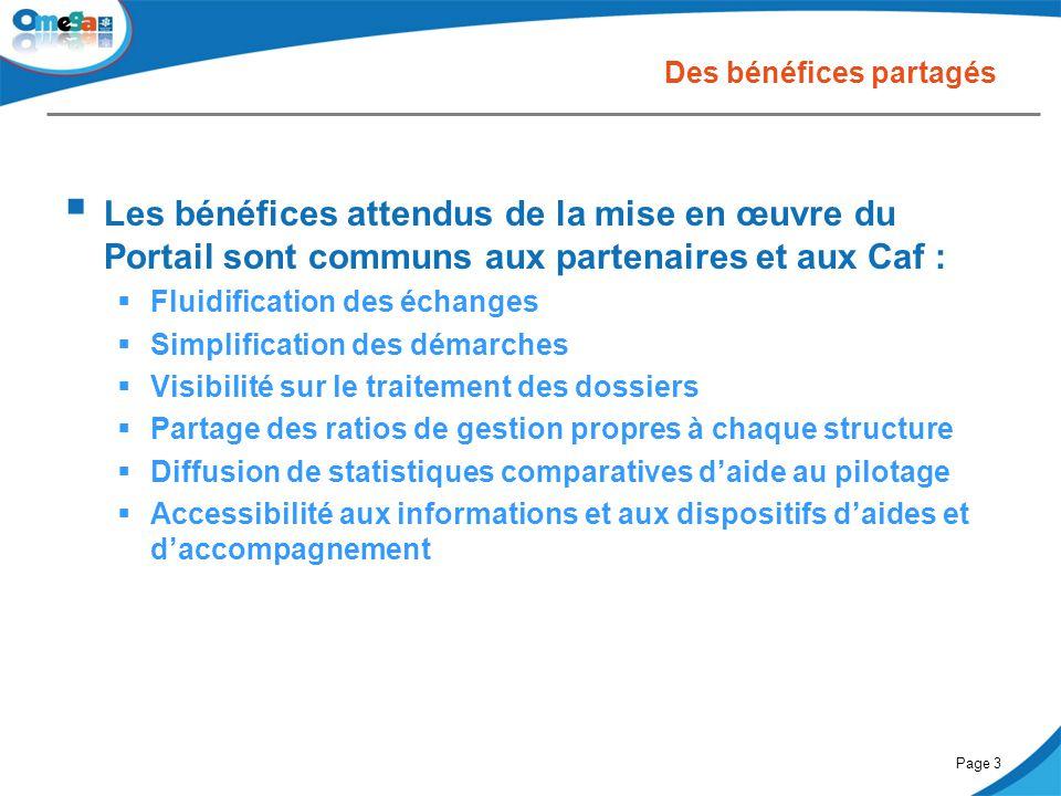 27 mai 2014Comité partenarial « Petite enfance »Page 3 Des bénéfices partagés  Les bénéfices attendus de la mise en œuvre du Portail sont communs aux