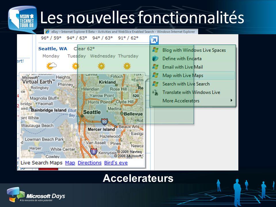 Les nouvelles fonctionnalités WebSlices Accelerateurs
