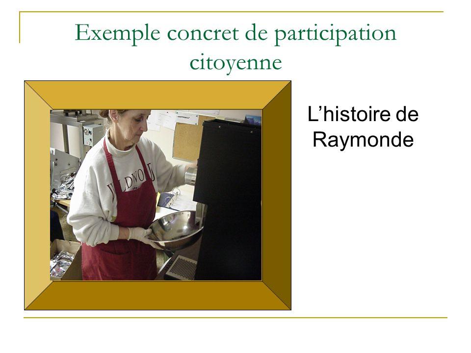 Exemple concret de participation citoyenne L'histoire de Raymonde