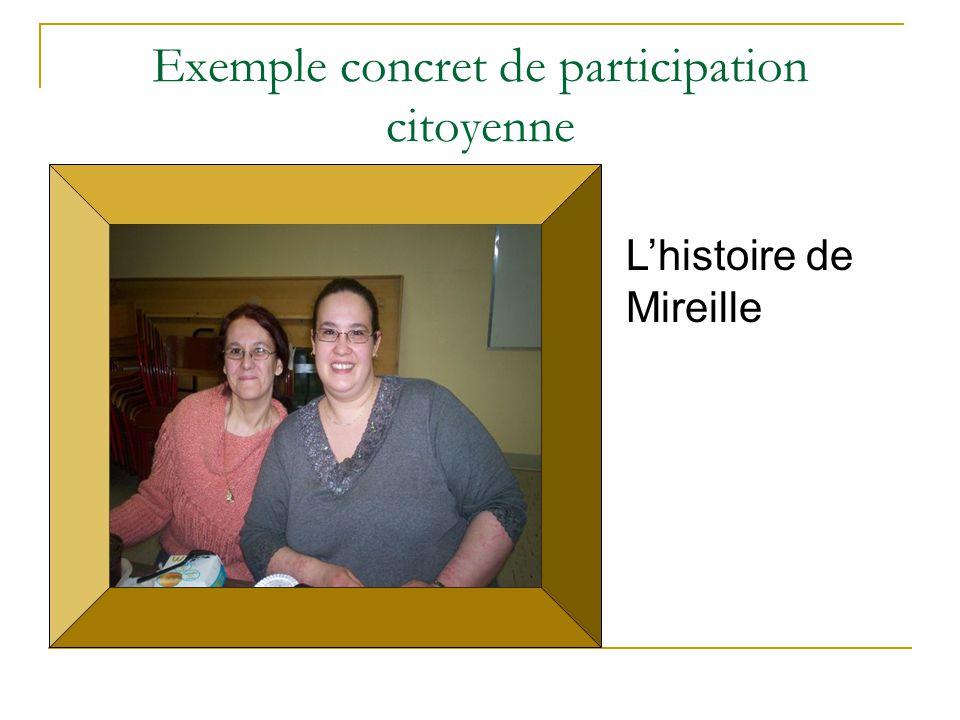 Exemple concret de participation citoyenne L'histoire de Mireille