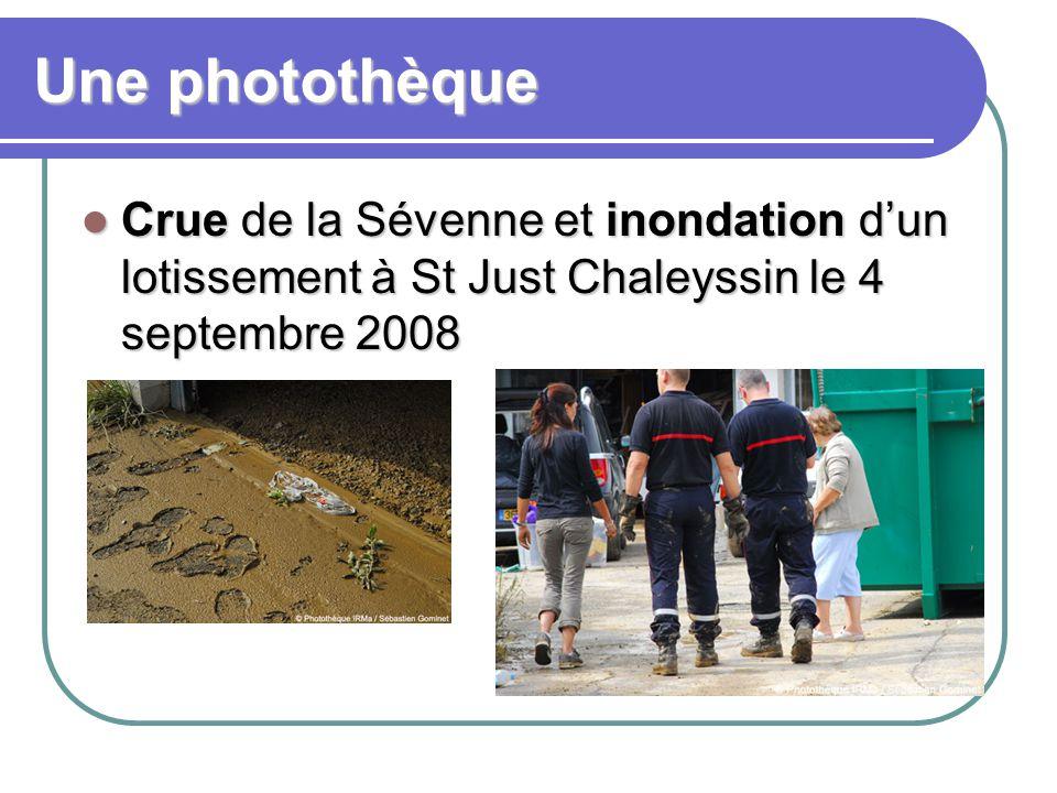 Une photothèque Crue de la Sévenne et inondation d'un lotissement à St Just Chaleyssin le 4 septembre 2008 Crue de la Sévenne et inondation d'un lotis