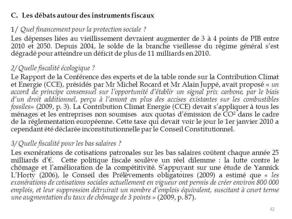 C.Les débats autour des instruments fiscaux 1/ Quel financement pour la protection sociale .