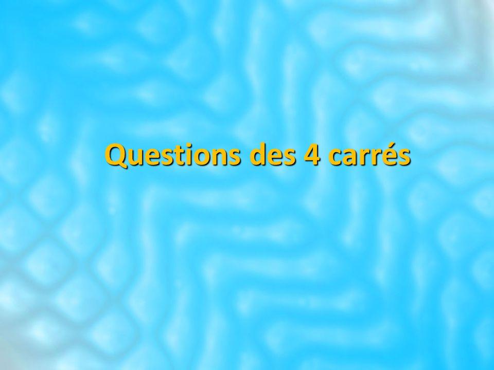 Questions des 4 carrés