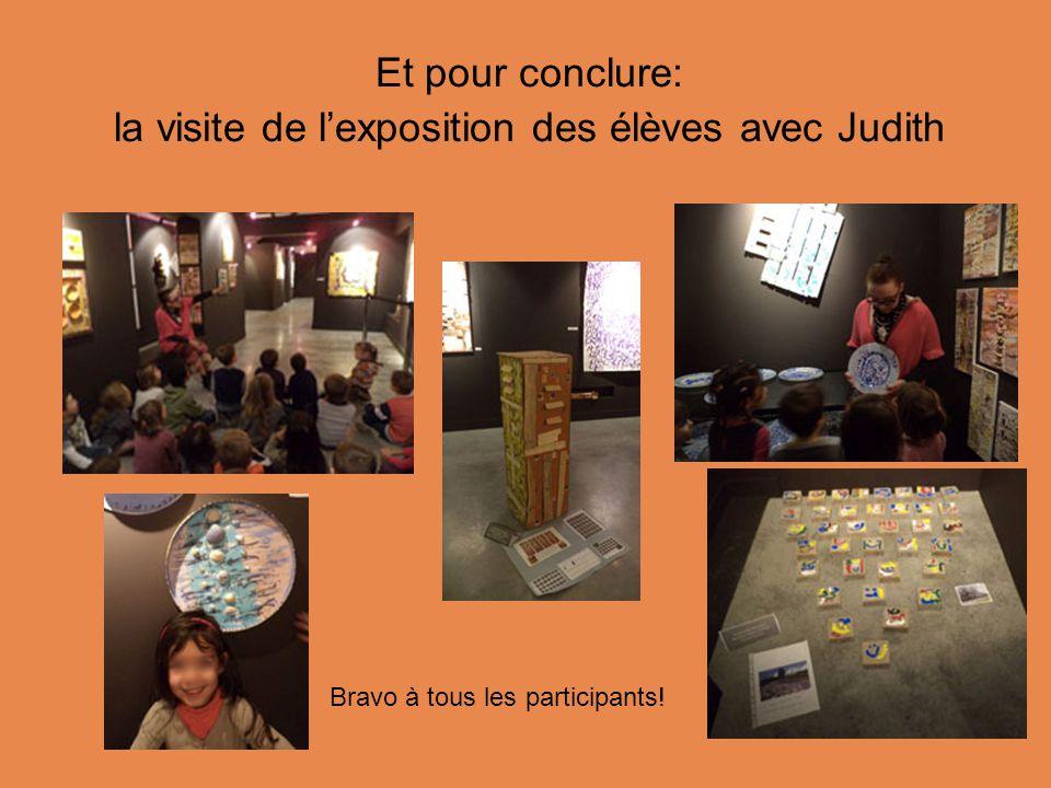 Et pour conclure: la visite de l'exposition des élèves avec Judith Bravo à tous les participants!