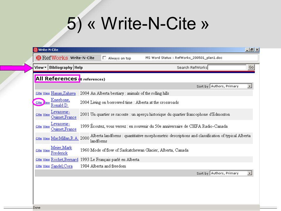 5) « Write-N-Cite »
