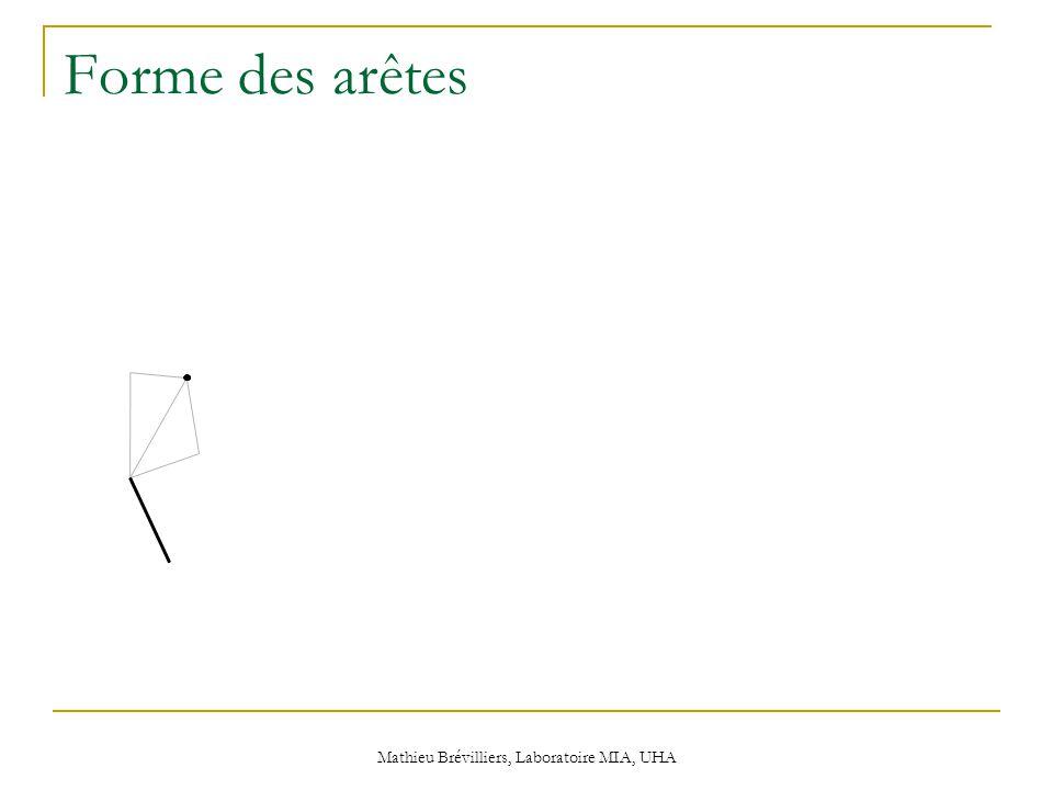 Mathieu Brévilliers, Laboratoire MIA, UHA Forme des arêtes
