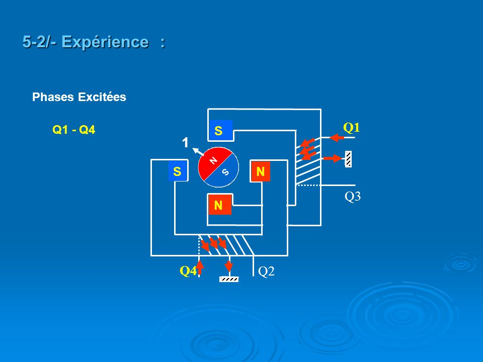 Q2 Q4 Q3 Q1 S S N N Q1 - Q4 5-2/- Expérience : 1 Phases Excitées