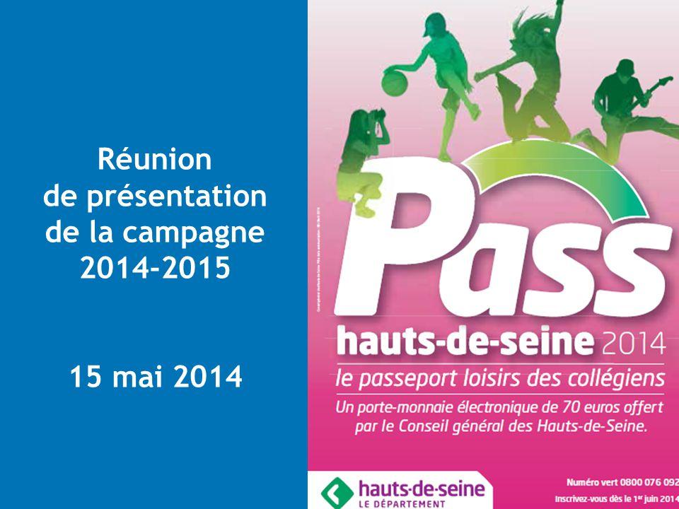 Pôle Education, Sport et Jeunesse Direction des Actions éducatives 1 Réunion de présentation de la campagne 2014-2015 15 mai 2014
