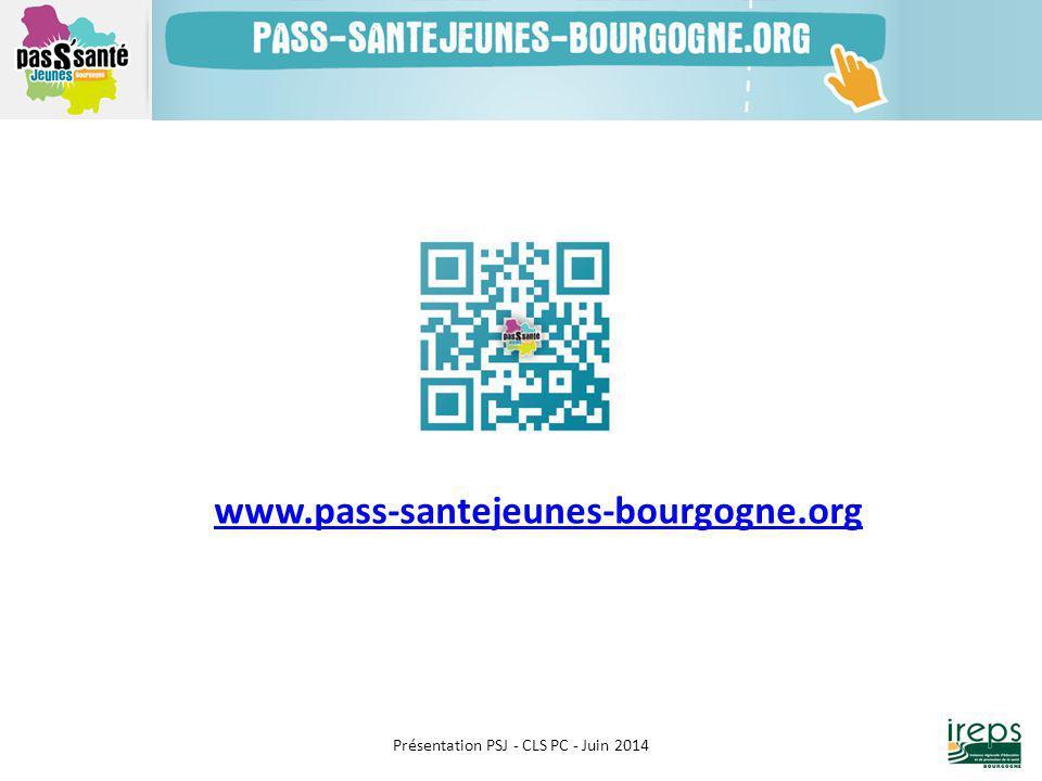 Présentation PSJ - CLS PC - Juin 2014 www.pass-santejeunes-bourgogne.org