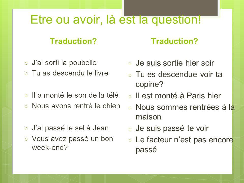 La négation ○ Ne..Pas around the conjugated verb ○ Je n'ai pas fini mes devoirs.