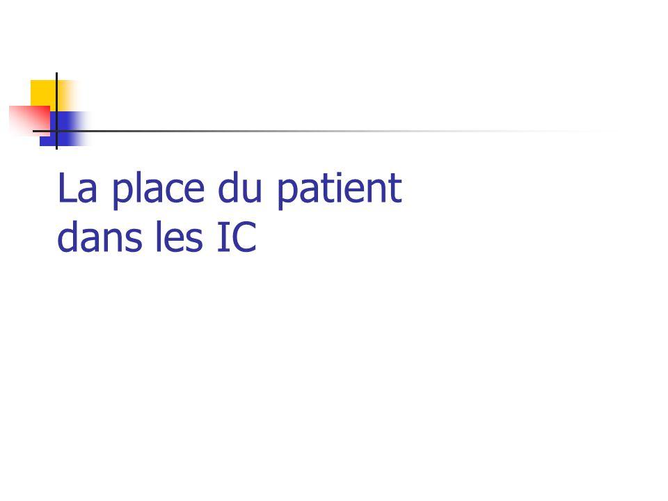 CIESP, 29/10/099 Pourquoi informer le patient.