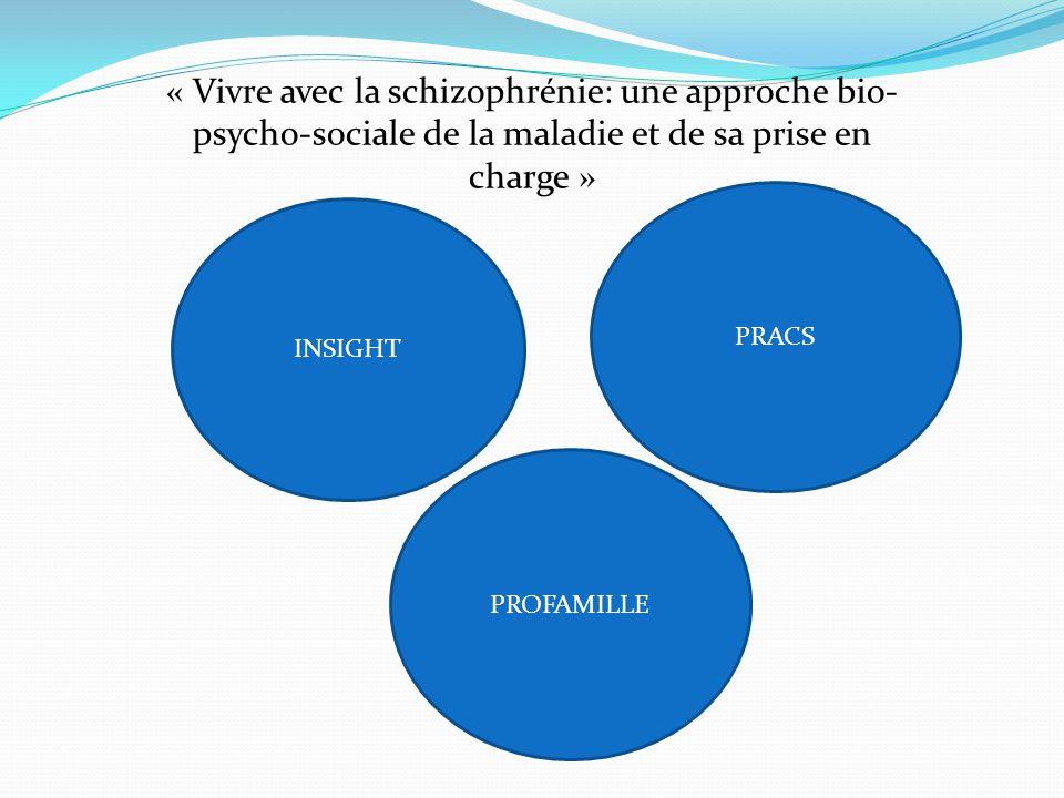 « Vivre avec la schizophrénie: une approche bio- psycho-sociale de la maladie et de sa prise en charge » INSIGHT PRACS PROFAMILLE