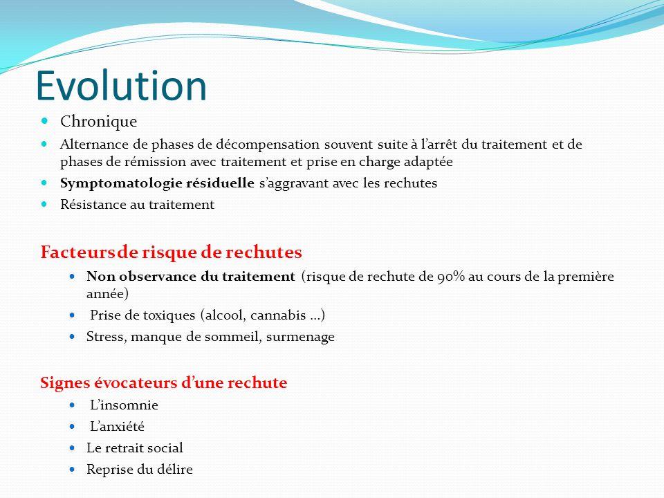 Prise en charge Pharmacologique Psychologique sociale « Vivre avec » réhabilitation psychosociale Éducation thérapeutique du patient
