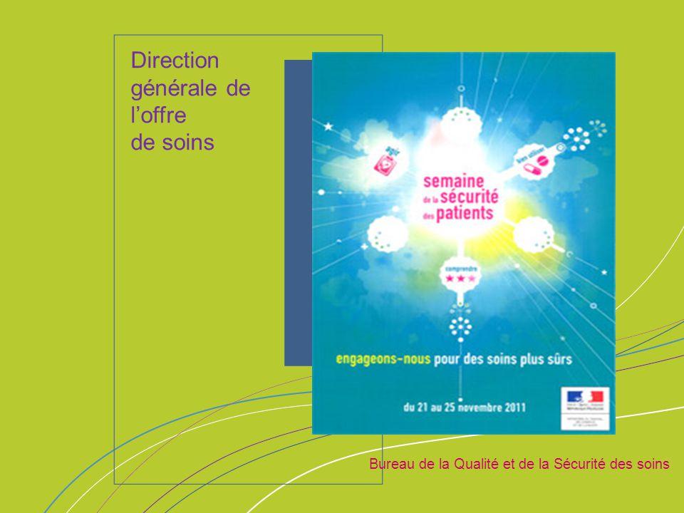 ORGANISATION & MISSIONS Bureau de la Qualité et de la Sécurité des soins Direction générale de l'offre de soins