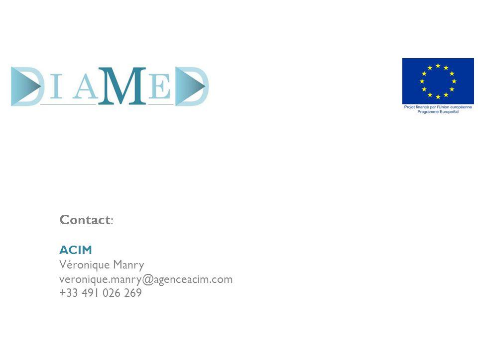 Contact: ACIM Véronique Manry veronique.manry@agenceacim.com +33 491 026 269