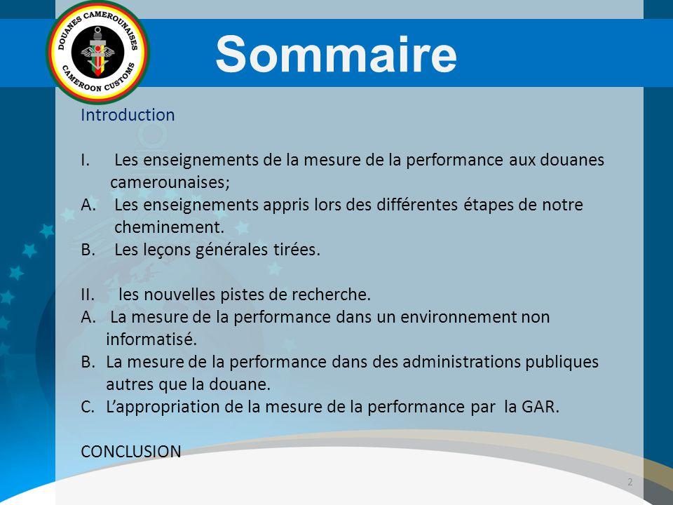3 Introduction Mise en œuvre du système de la mesure des performances; depuis 2008 Les contrats de performance en constitue le socle depuis 2010; Les résultats intéressants sur les délais, sur les mauvaises pratiques et sur la collecte des recettes;