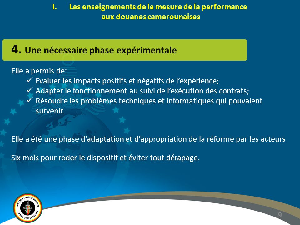 9 4. Une nécessaire phase expérimentale Elle a permis de: Evaluer les impacts positifs et négatifs de l'expérience; Adapter le fonctionnement au suivi