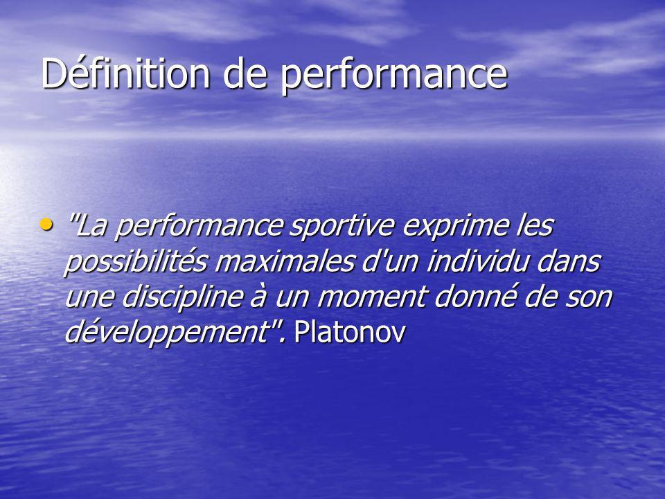 Définition de performance