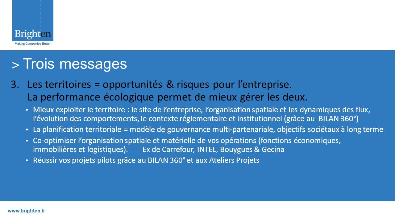 www.brighten.fr 3.Les territoires = opportunités & risques pour l'entreprise.